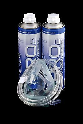 Pro2 Oxygen Cans *40 - Litres With Medical Mask