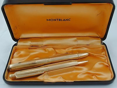 Montblanc Fountain Pen 742 And Pencil 772K Set With Box And Papers
