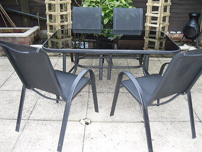 Homebase Garden Patio Set - Table And Four Chairs