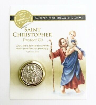 Saint St Christopher - Magnetic / Self Adhesive Car Badge / Plaque