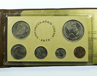 Singapore, Uncirculated Coin Year Set, 6 Coins, Year Of The Rabbit, Asia, 1975