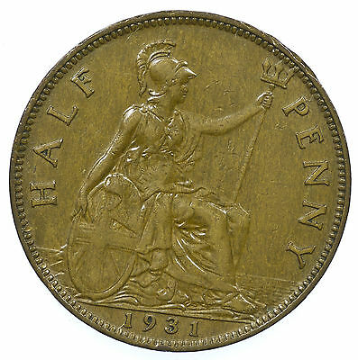 Great Britain, George V Halfpenny, 1931