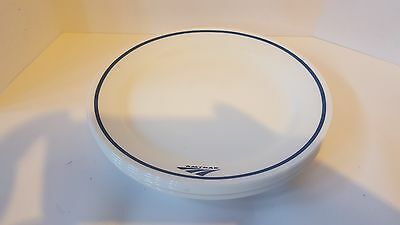 """Lot of SIX NEW Amtrak Corelle 9"""" Lunch Plates"""
