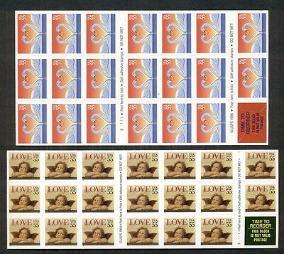 U.S. DISCOUNT POSTAGE self adhesive 2 diff - 55¢ Ready to Use, Face $22.00