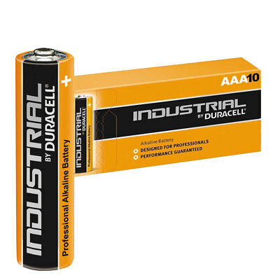 10 Duracell Industrial AAA Alkaline Batteries Replaces Procell MN1500 1.5V LR03