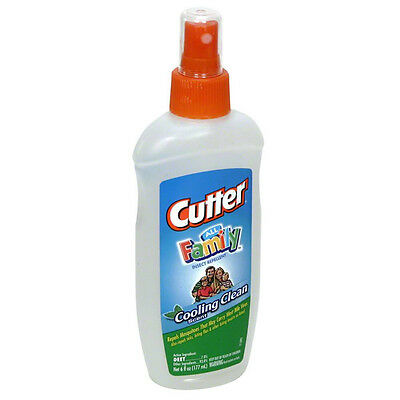 CUTTER - All Family Insect Repellent, Cooling Clean Scent - 6fl. oz. (177 ml)