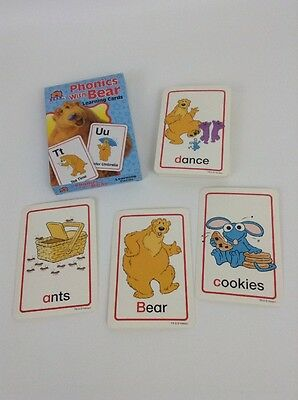 Disney Bear in the Big Blue House Phonics With Bear Learning Flash Cards 2005