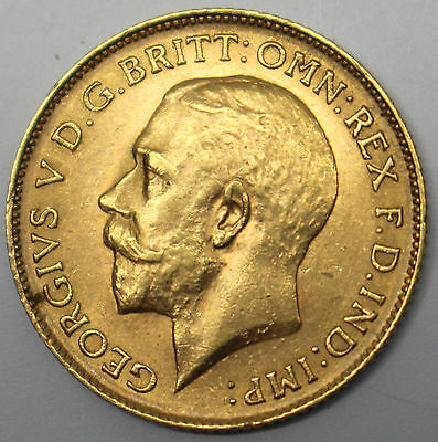 1913 Great Britain Half Sovereign Gold Coin George V Uk #86911-1Dbw