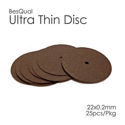 Dental BesQual Ultra Thin Disk High Quality (25/Box) 22 X 0.2mm  FREE SHIP