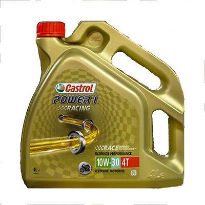 Castrol Power 1 Racing 4T 10w-30 Synthetic 4 Stroke 10W30 Bike Oil 4L