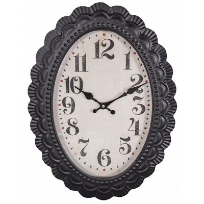 Oval wall clock old style by Antic Line
