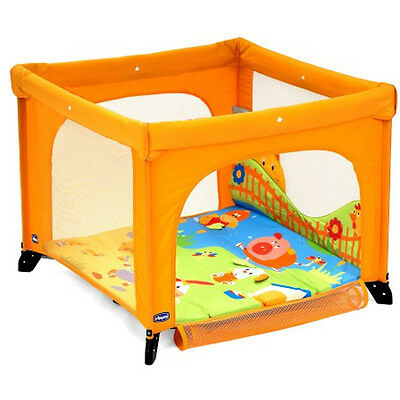 parc d'eveil country CHICCO couleur orange 76 x 94 x 94 cm
