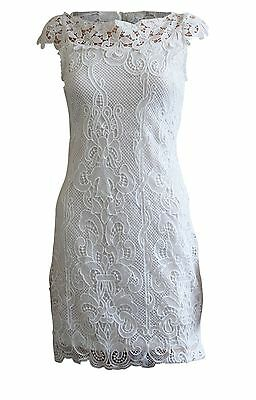 New Quiz White Lace Bardot Off Shoulder Summer Party Dress Size 8 - 16