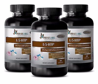 Weight loss organic - L 5 HTP 100mg - now mood support - 3 Bottles
