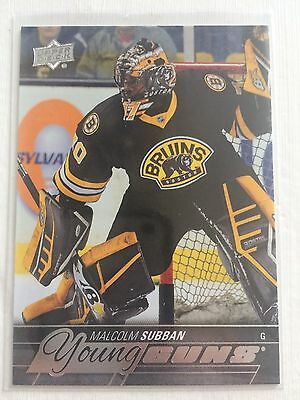 2015-16 Upper Deck Malcolm Subban #211 Rookie Young Guns RC