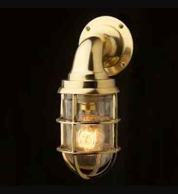 Nautical Light Ship Brass 90 degree bulkhead Wall Passage Light 5 Piece
