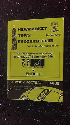 Newmarket Town V Enfield 2001-02