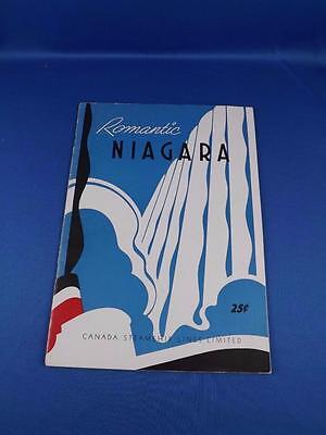 Romantic Niagara Booklet History Fold Out Map Canada Steamship Lines Advertising