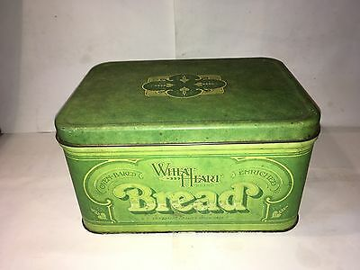 Vintage Wheat Heart Bread Bin