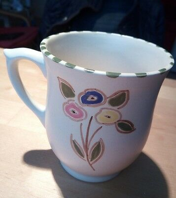 Honiton Pottery mug cup hand painted  flowers