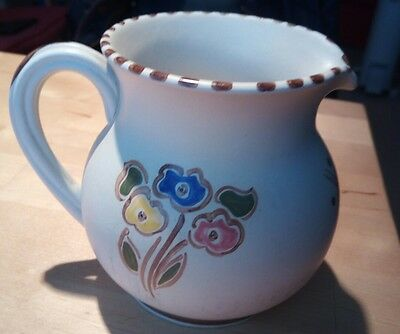 Honiton Pottery hand painted jug with flowers