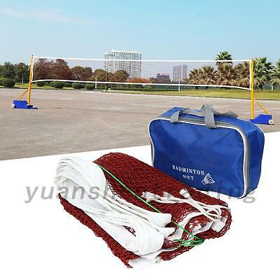 Braided Badminton Net + Bag High Quality For Exercise Professional Training