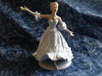 Wallendorf Germany Ballerina Figurine - Belle Of The Ball - Dancing Lady -