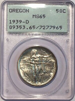 United States 1939-S Silver 50 Cents Oregon PCGS MS65 in Old Rattler