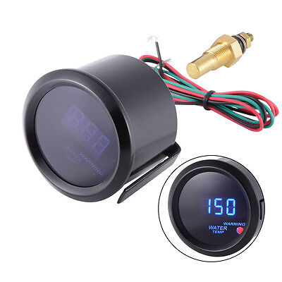 "New Car 2"" 52mm Blue Digital LED Water Temp Temperature Gauge Meter UK"