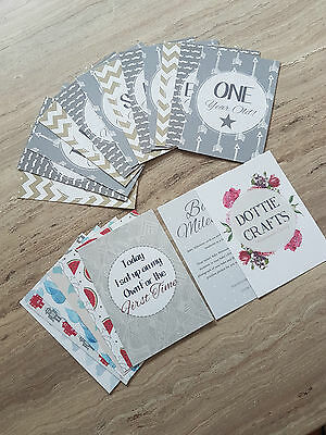 Baby Milestone/Month Cards   baby shower gift   baby cards Grey Arrow Design