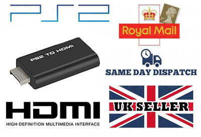Ps2 To Hdmi Adapter Output 1080P 720P Converter 3.5Mm Audio Hd Playstation 2