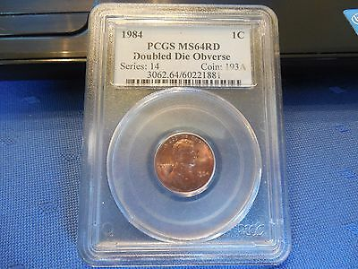 1984 D Lincoln Cent PCGS MS64RB Double Die Obverse Cherrypicker FS-101 DDO