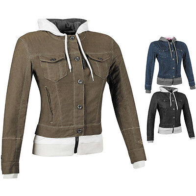 Speed and Strength Fast Times Denim Womens Street Riding Motorcycle Jacket