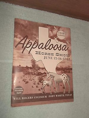 Vintage 14Th National 1961 Appaloosa Horse Show Program~~Great Articles & Ads