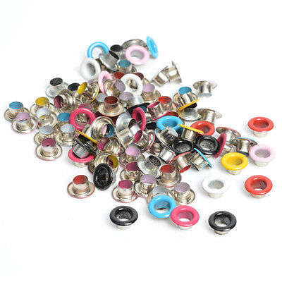 100pc  Metal eyelets Scrapbooking DIY Embelishment Garment Clothes Leather DIY