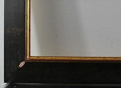 Wood frame dark brown gold Inside dimension approx. 61x87 cm