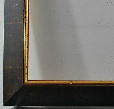 Wood frame dark brown gold Inside dimension 61x87 cm