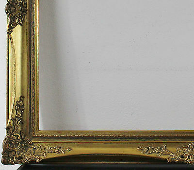 Decorated Wood frame gold 70,5 x 90,5 cm Inside dimension