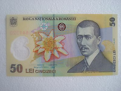 Romania 50 Lei 2005 - Polymer- Eagle - Airplane/ Pick#120-New