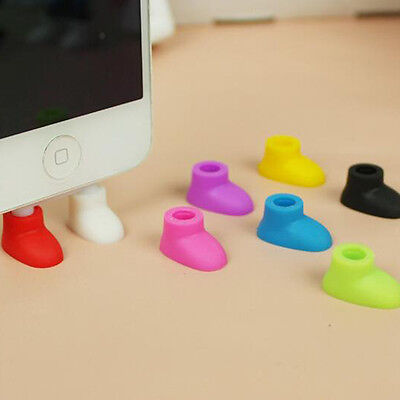 2pcs Dust Plug Usb Charger Port Plug Stand Gadget For IPhone 5 6 6S/plus