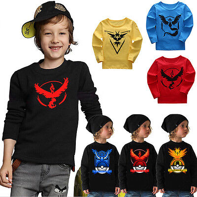 Pokemon Go Kids Clothes Cotton Tops Baby Boys Girls Summer Tee T-Shirts Outfits