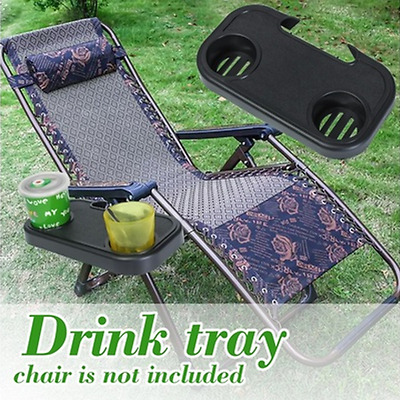 1X Portable Folding Camping Picnic Outdoor Beach Gartenstuhl Side Tray Für Drink