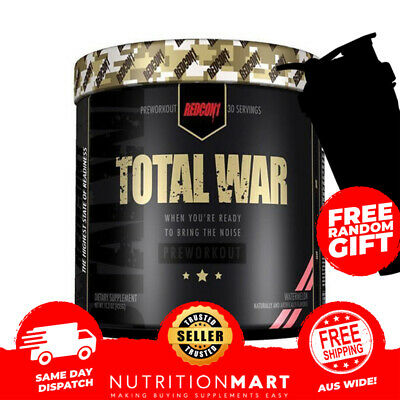 Total War Pre Workout - Redcon1 - Hi Stim - Focus - Energy - No Crash 30 Serves