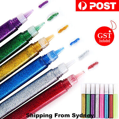 10pcs Glitter Glue Pens Art Gel Pen Children Kids Crafts DIY Decor Scrapbooking