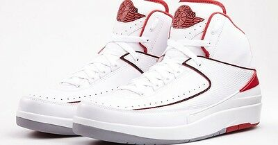 cc183221ea5961 NIKE AIR JORDAN 2 II Retro Chicago Bulls White Varsity Red SZ 11.5 ...