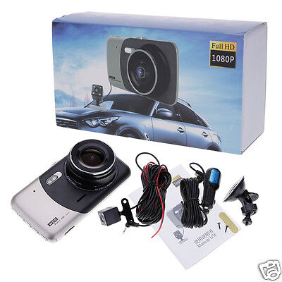 "4.0"" Dual Lens Car DVR Camera Full HD 1080P Dash Cam Recorder 170°Wide Angle"