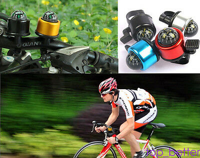 Bicycle Bike One Touch Push Loud Handlebar Ring Ping Bell Horn For Mountain Road