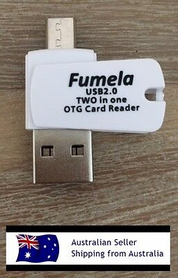 OTG Card Reader 2 in 1 USB 2.0 For Android/PC