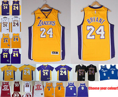 #24 #8 Kobe Bryant Jersey Los Angeles Lakers NBA S-XXL MESSAGE COLOUR