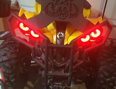 Can-Am Halo Rings for headlights angel/demon Eye set of 4 Canam  Renegade - RED